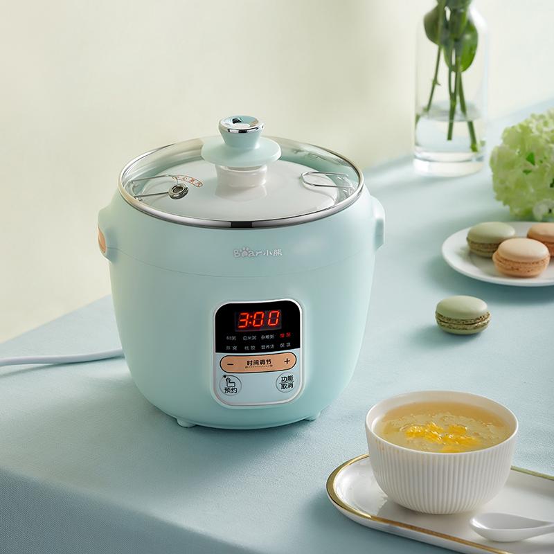 小熊电炖锅炖燕窝炖盅全自动智能陶瓷隔水炖小煲汤熬粥煮粥神器锅