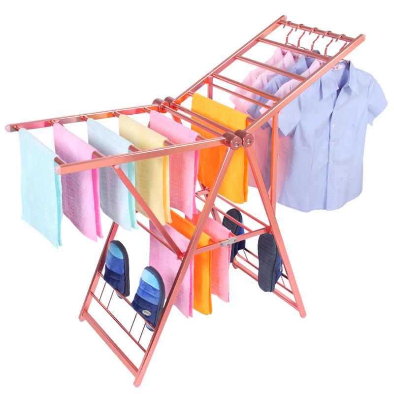 Вешалка для одежды со складыванием Покрытие из балкона из нержавеющей стали алюминий Сплав простой утепленный Сушильная сушилка