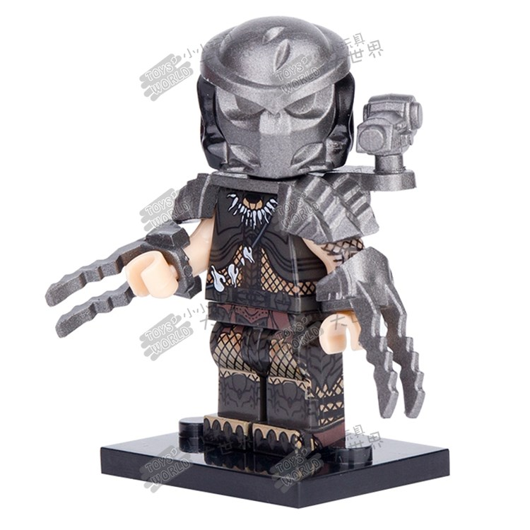 Compatible with Lego building block doll third party pg1127 iron warrior vs. alien predator assembled toy