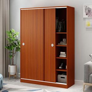 衣柜简约现代经济型组装实木板式简易移门衣橱2门儿童衣柜推拉门