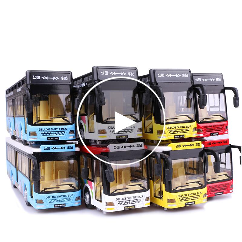 �和�玩具公交�模型仿真合金�p�影褪柯�光回力可�_�T大巴公共汽�