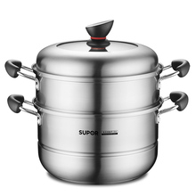 Supporter Steam Cooker 304 Stainless Steel 22-Layer Small Steam Cooker Household Steam Cage Thickening Large Gas Electromagnetic Furnace Applicable