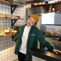 秋季女装韩版BF风宽松长袖薄款棒球服中长款长袖夹克开衫上衣外套