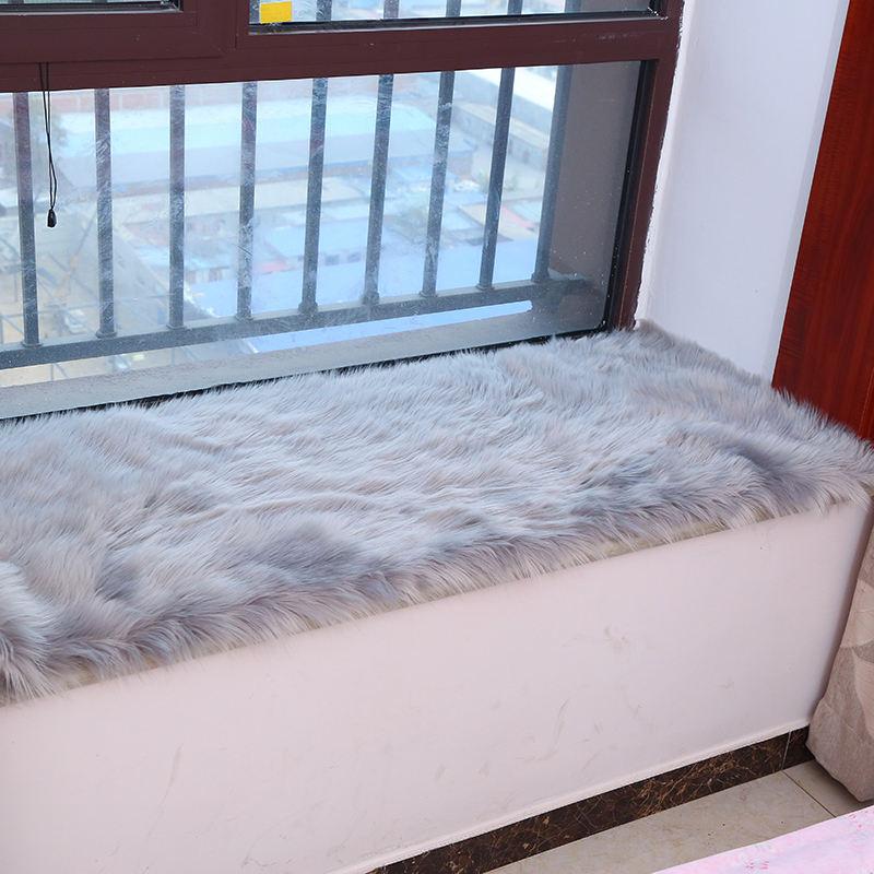 岐雪飘窗垫窗台垫定做阳台垫子地毯现代简约北欧长毛绒地毯仿羊毛
