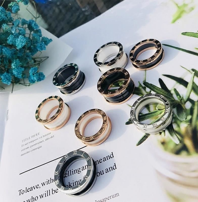 Ceramic ring, male gear, luxurious jewelry, decoration design, mens and womens net red modeling, creative index finger anti allergy makeup