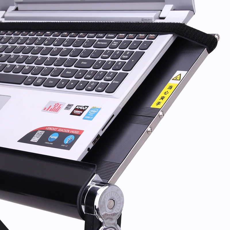 Yino easy-to-use computer table accessories lying flat use notebook table anti-skid card slot and fixed strap