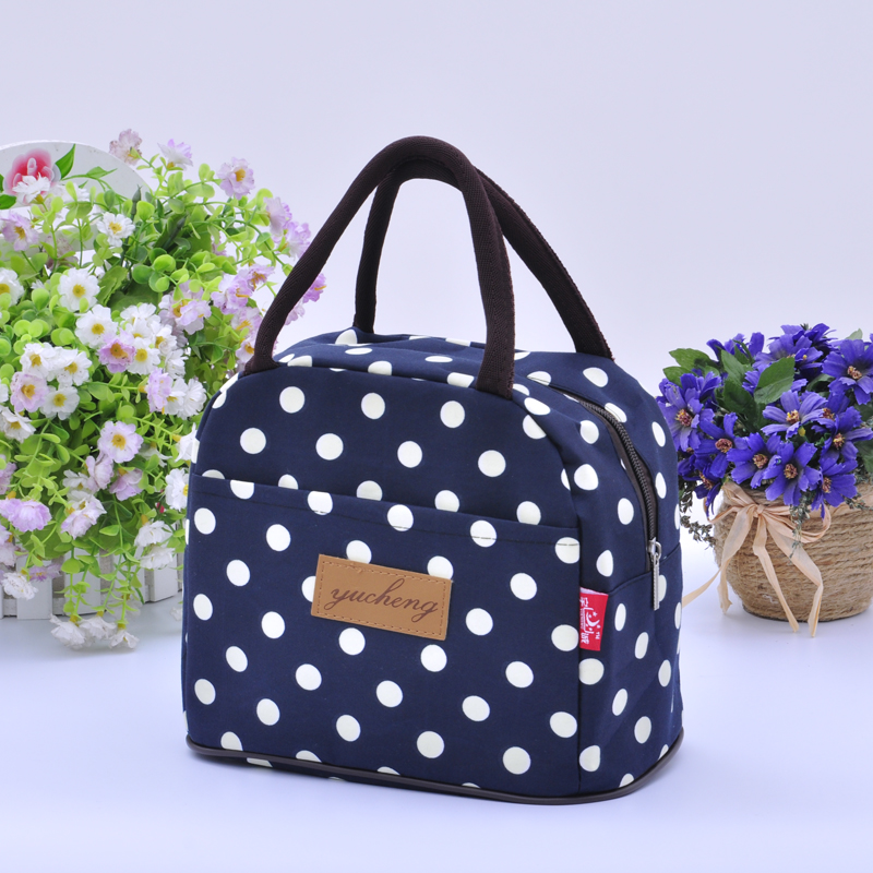 Lunch box bag, handbag, Korean version, small fresh water-proof, large, small, thickened, instant bag, Mommy, carrying womens small cloth bag