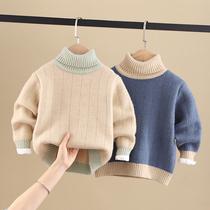 童装男童毛衣套头加绒加厚秋冬装2020新款中大小儿童韩版洋气高领