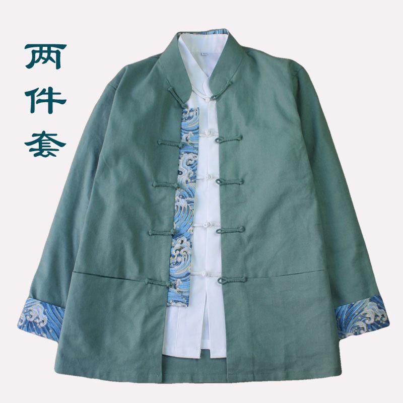 不是张嘉佳唐装女上衣外套民国中国风棉麻中式盘扣复古茶汉服套装