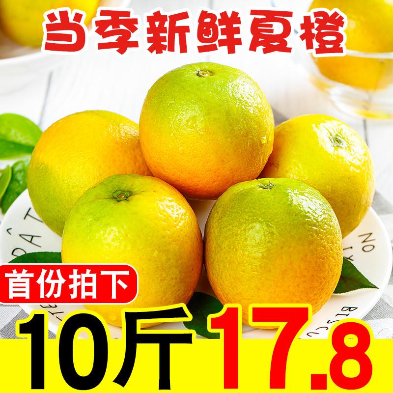 爆汁夏橙新鲜橙子10斤装当季水果整箱秭归脐橙现摘孕妇手剥橙包邮