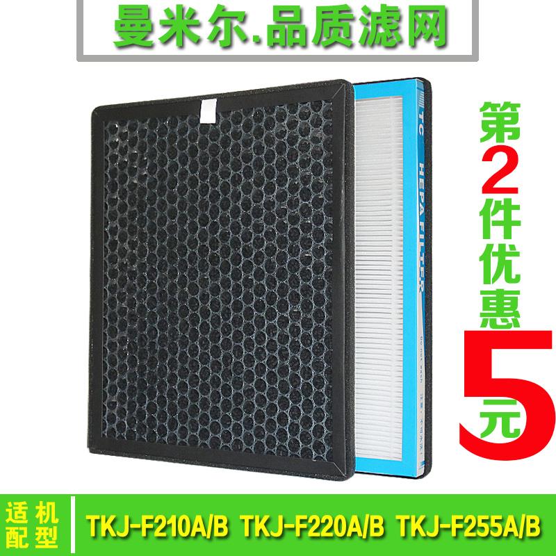 [曼米尔滤网净化,加湿抽湿机配件]适配TCL空气净化器过滤网TKJ-F月销量1件仅售48元