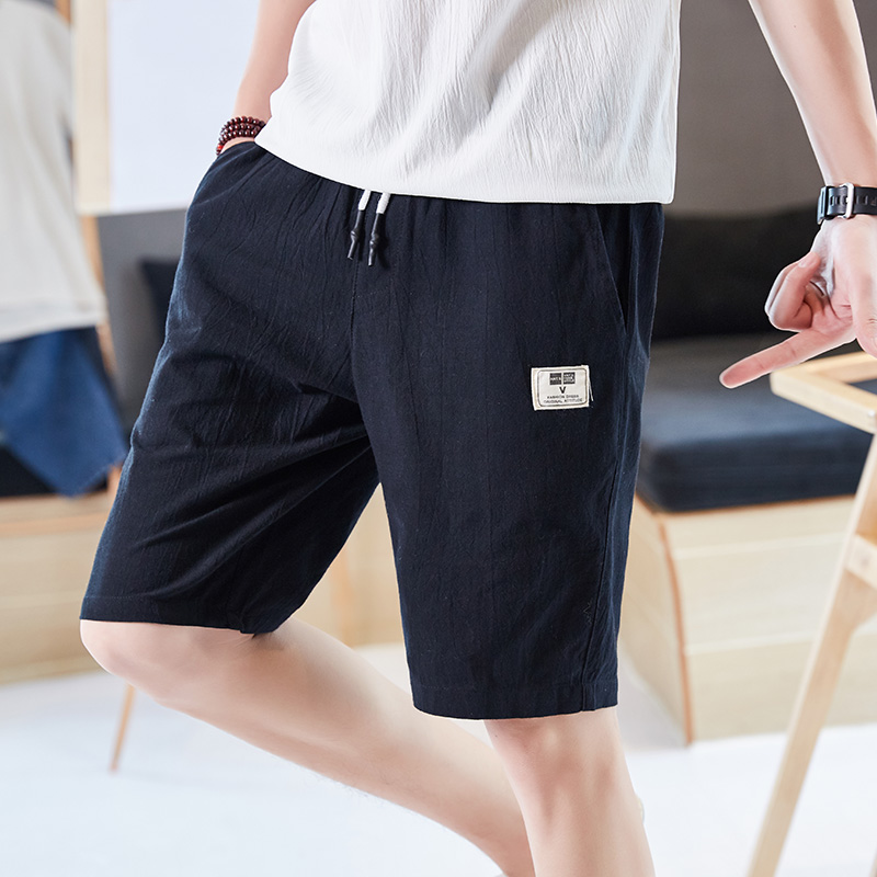 夏季新款短裤男士潮五分裤休闲文艺