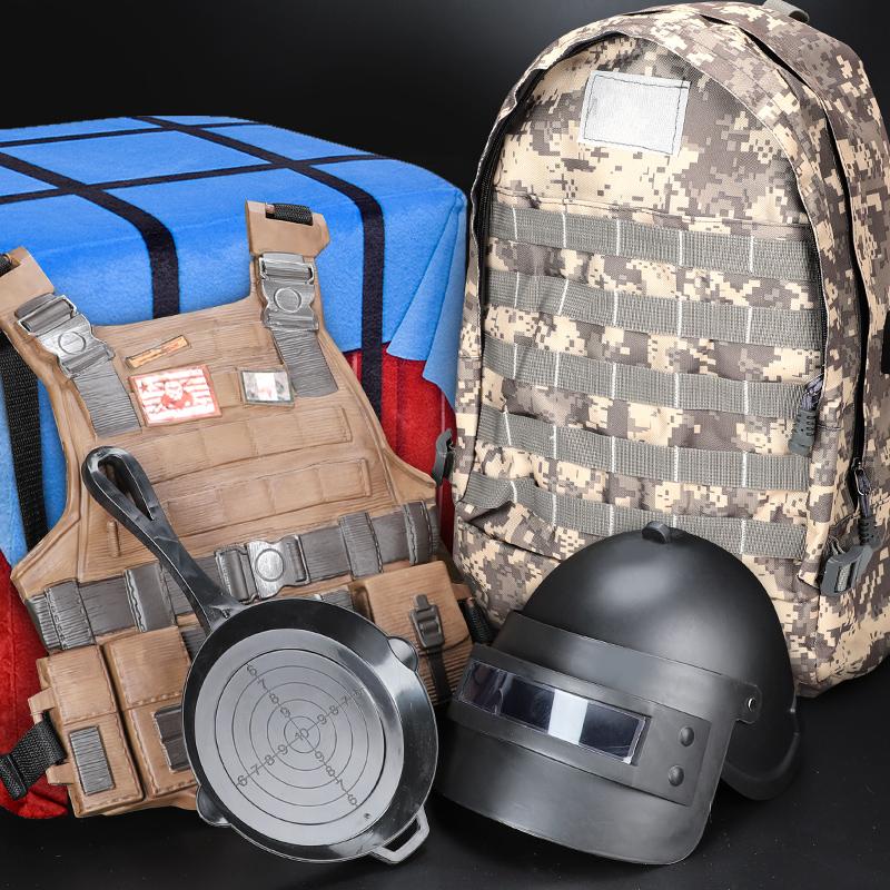 吃鸡装备98k三级头盔cos三级甲吉利服绝地求生玩具套装三级背包