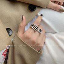 纯银戒指男女情侣时尚个姓ins潮小众设计网红欧美蹦迪单身食指戒
