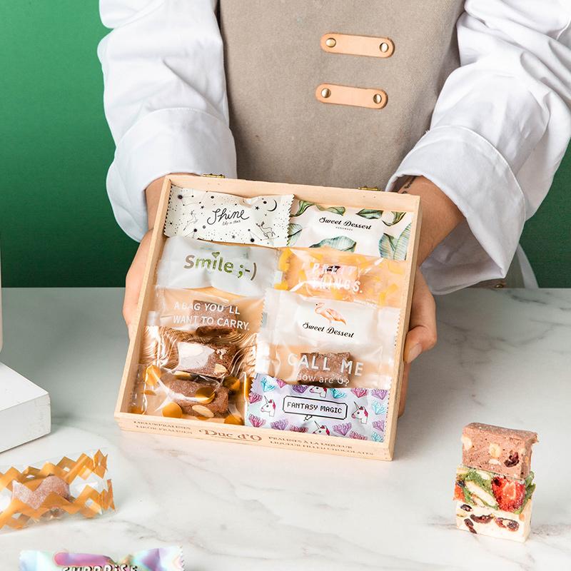 牛轧糖包装袋牛扎糖糖纸机封袋子封口袋奶枣糖果纸太妃透明的烘焙