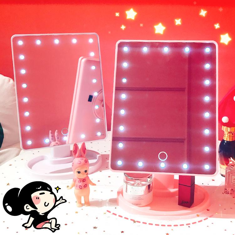 Рабочий стол девушка сердце LED рабочий стол сенсорный экран комната с несколькими кроватями квадрат соус заполнить светящаяся лампа хранение свет косметическое зеркало студент