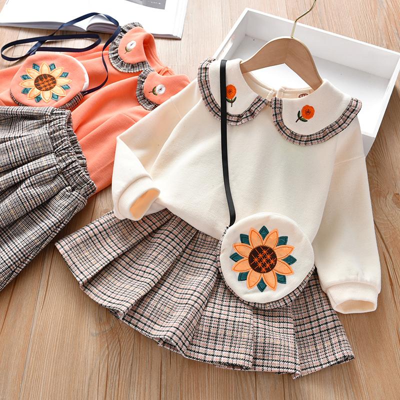 女童秋装2020新款儿童小女孩两纯棉