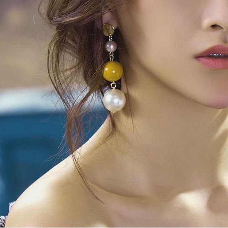 耳线吊坠女耳环韩国气质长款简约个性珍珠耳钉百搭潮女耳饰品耳坠