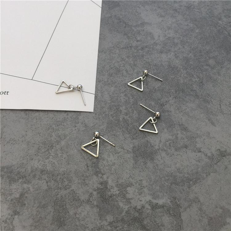 Minimalist simple personality geometry triangle Mini stud 101