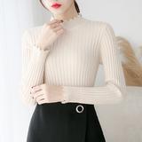 半高领毛衣女秋冬新款短款打底衫长袖修身百搭套头上衣加厚针织衫