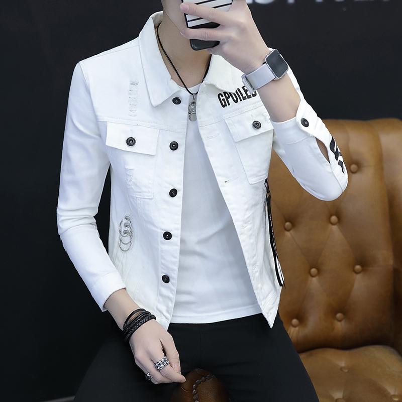 男士牛仔夹克2018春夏季新款帅气衣服潮流男装韩版春装薄款外套男