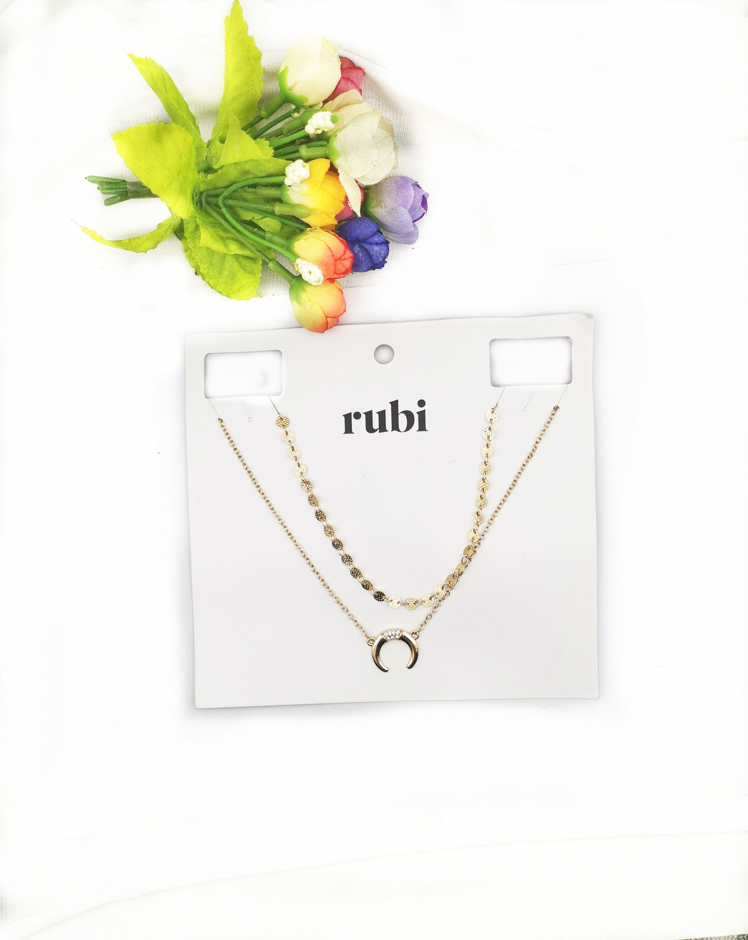Qingdao jewelry European and American style simple gold plated temperament new womens Necklace