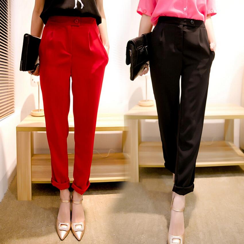 高腰2020夏装新款女式韩版九分裤大码休闲裤女宽松显瘦直筒裤潮