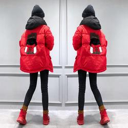 红色轻薄羽绒服女中长款欧洲站女2020冬装新款欧货潮时尚冬季外套