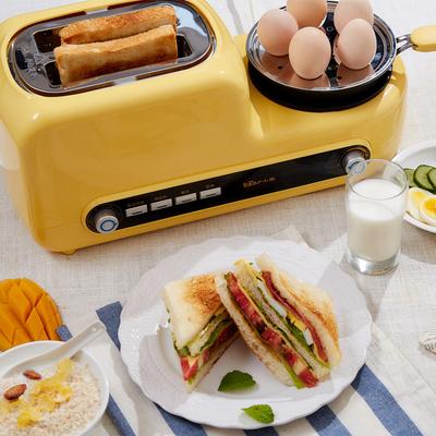 小熊烤面包机家用多功能2片土司早餐神器迷你多士炉全自动吐司机
