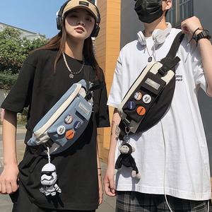 ins潮牌胸包男休闲日系单肩斜挎包
