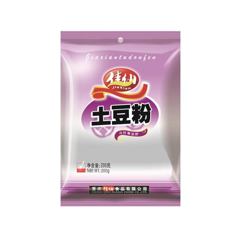 佳仙土豆粉200g*3袋纯马铃薯淀粉生粉勾芡土豆淀-太白顶芽(佳仙食品旗舰店仅售12.9元)