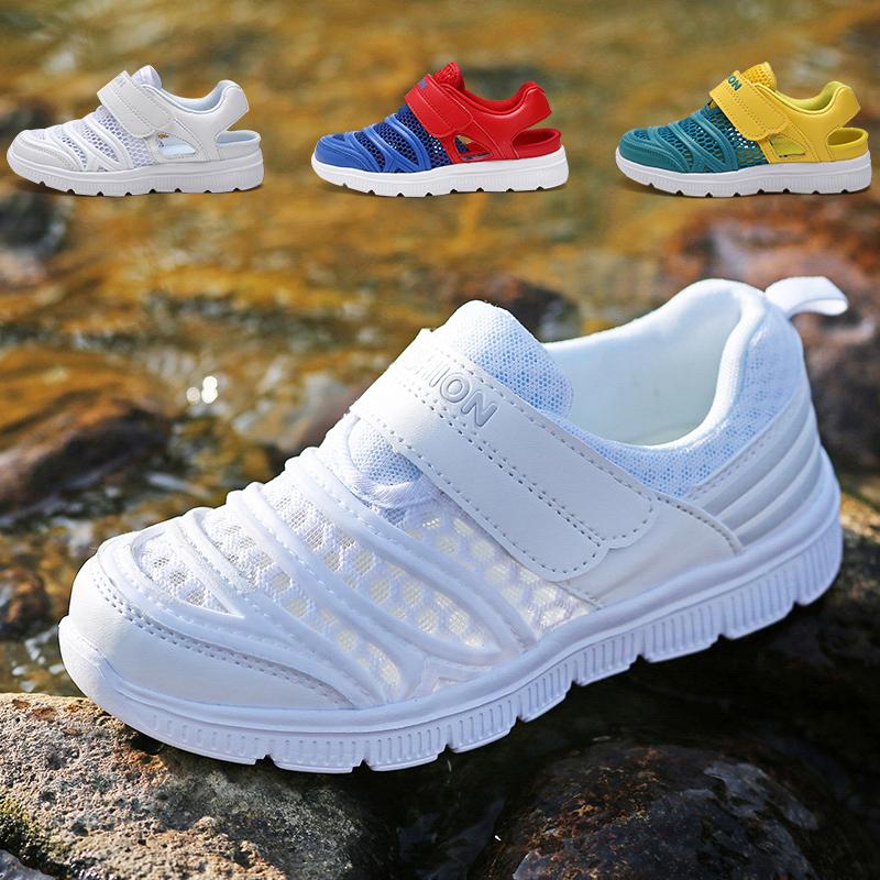 男童网鞋2019夏款小男孩网面透气女学生网眼凉鞋中大儿童运动鞋子