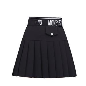 (百搭时尚周)秋季百褶裙时尚日系短裙高腰半身裙A字裙防走光裙