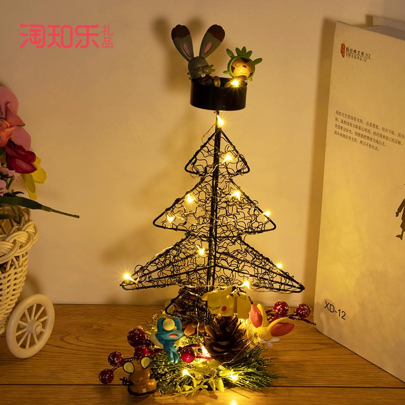 圣诞装饰摆件蜡烛台美少女战士叮当宠物精灵龙猫手办公仔圣诞礼物