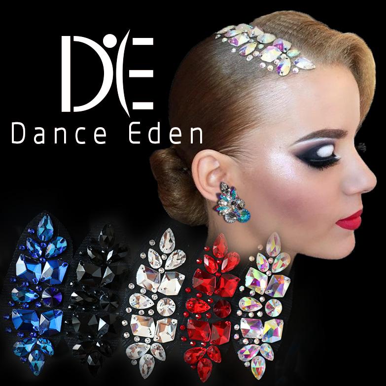 Аксессуары для волос DanceEden винтаж Латинский танец современного танца белый AB цвет ромб красный сокровище синий черный Показать урожай