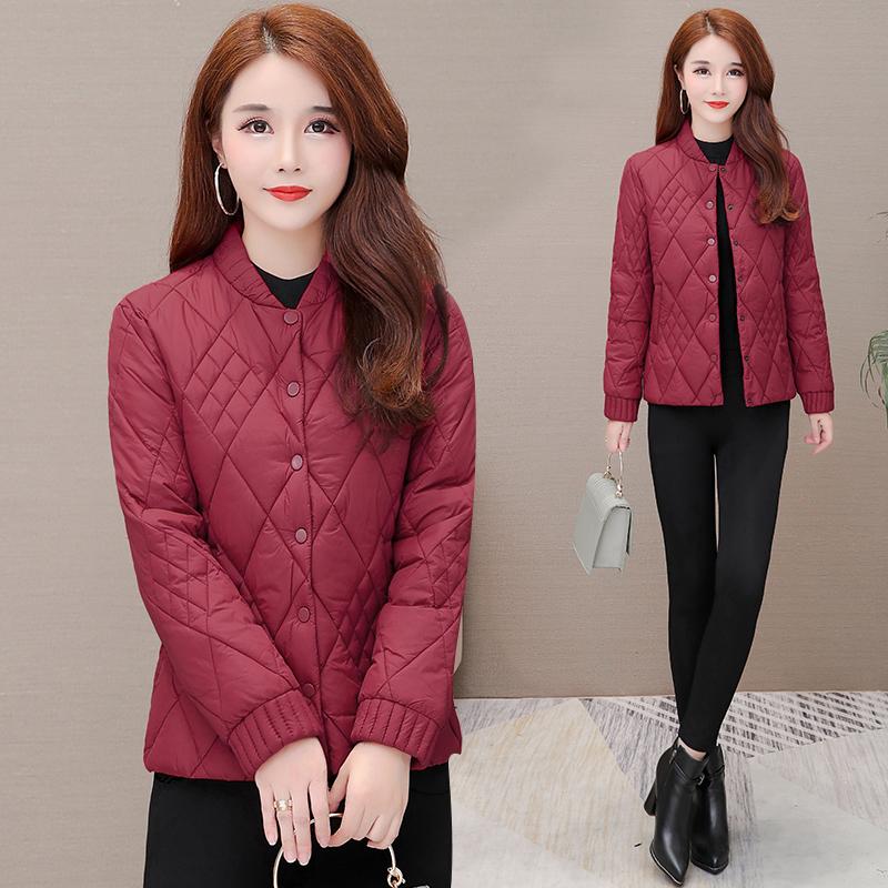 短款小棉袄女冬季2020新款棉衣时尚中年妈妈冬天轻薄羽绒棉服外套