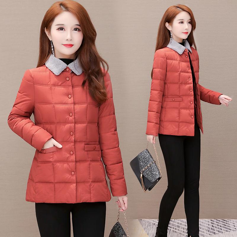 短款小棉袄女冬季2020新款棉衣时尚中年妈妈洋气轻薄羽绒棉服外套