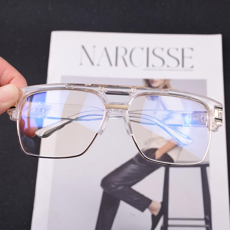 Fashion trend European and American Sunglasses anti blue flat mirror Dita Tita men's and women's Retro sunglasses can be matched with myopia