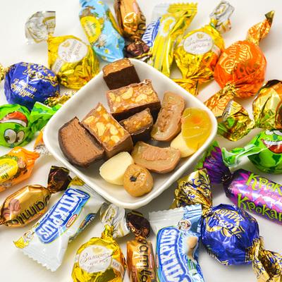 俄罗斯进口食品高端巧克力混合糖果散装喜糖年货节礼包零食500g