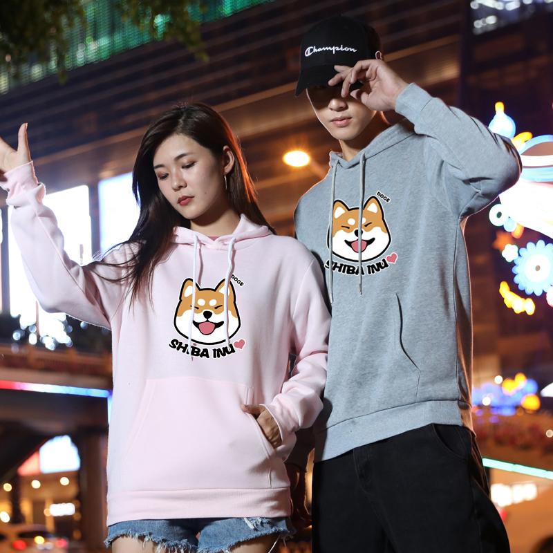 Korean long sleeve coat graffiti sweater mens Pullover Hoodie mens class clothes fashion brand couple top fashion Sweatshirt