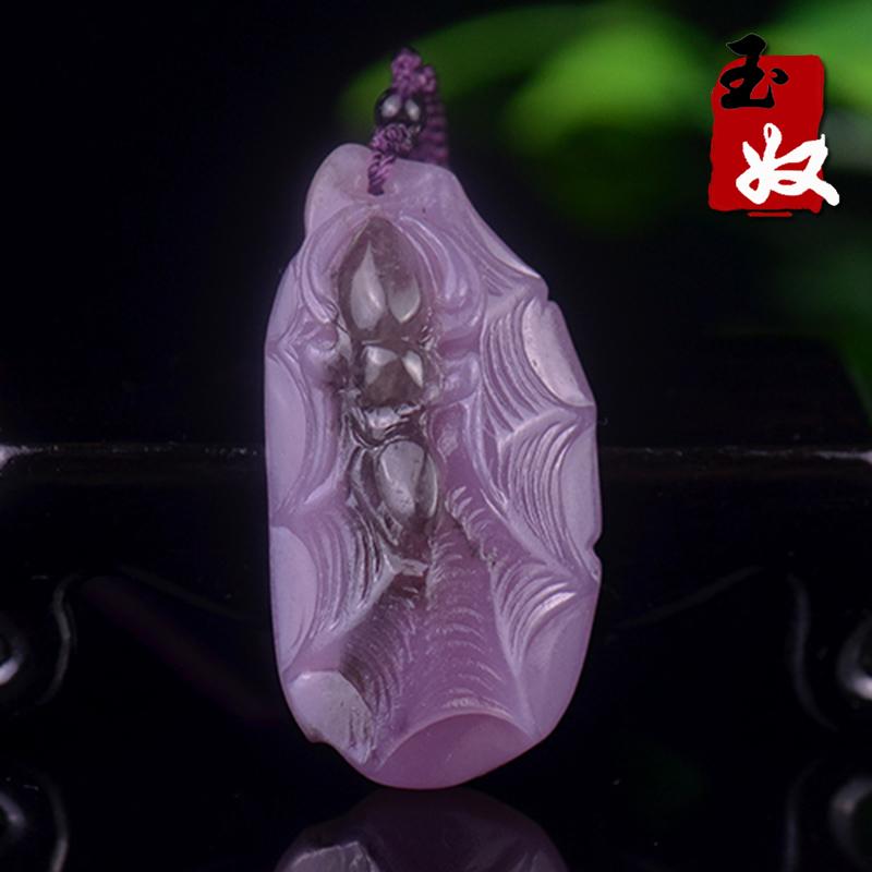 玉奴/新疆阿勒泰可可托海天然丁香紫玉吊坠/一往情深/挂件