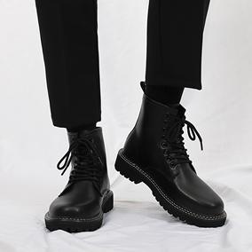 马丁靴潮流百搭休闲鞋子春季皮鞋