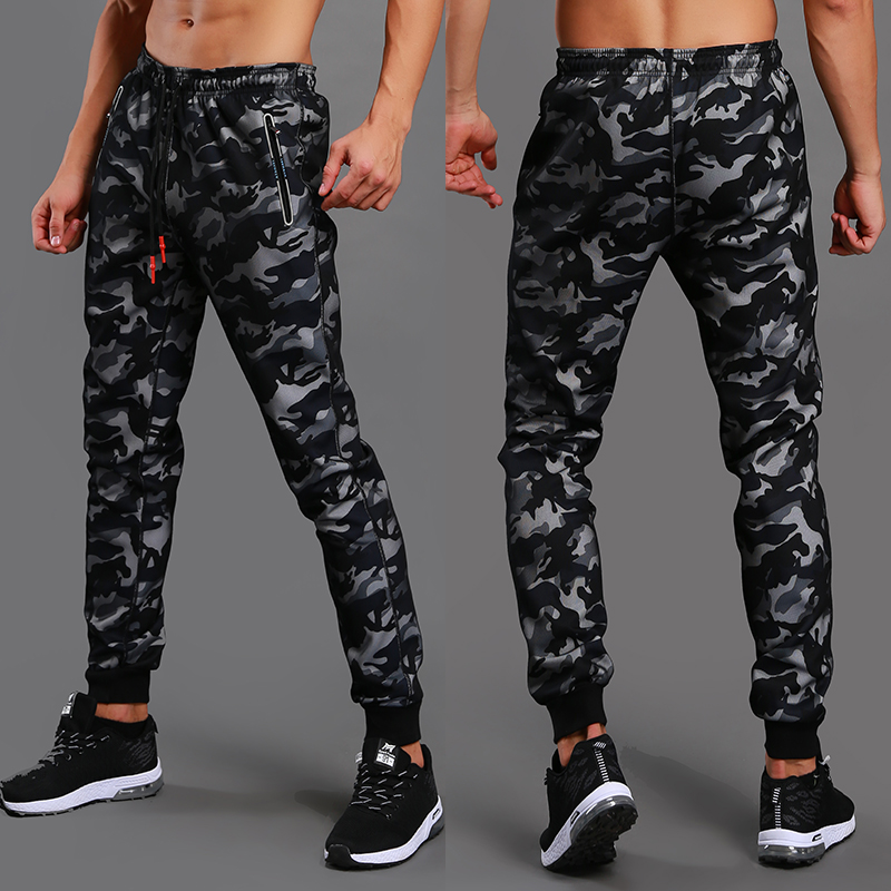 Camouflage pants mens casual pants slim pants spring mens fitness pants quick drying gym camouflage Leggings