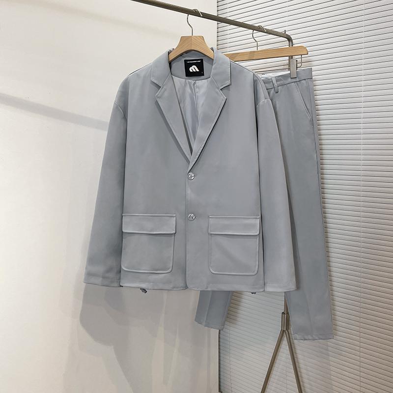 2021秋季新款休闲西服男韩版百搭轻熟风小西装上衣-W210058-p125