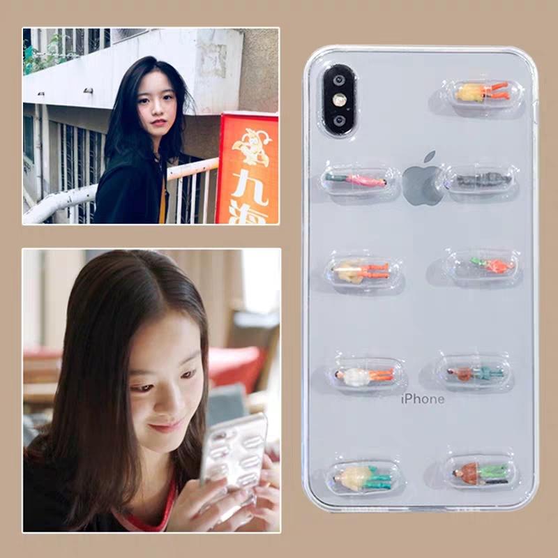 小欢喜乔英子同款vivoX21手机壳X20胶囊小人X9/s硅胶女x7/X6/plus