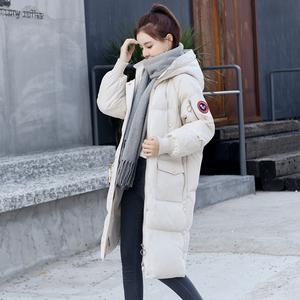 过膝中长款羽绒棉衣外套女冬季新款时尚潮流女装加厚保暖长款棉服