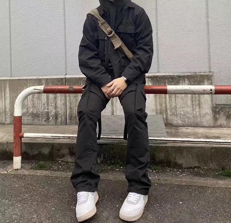 vu jade kenijima复古绑带工装裤