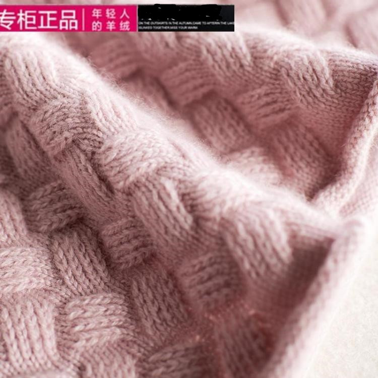 [off season clearance] 100% cashmere sweater womens half high necked thickened slim fitting Pullover at a loss