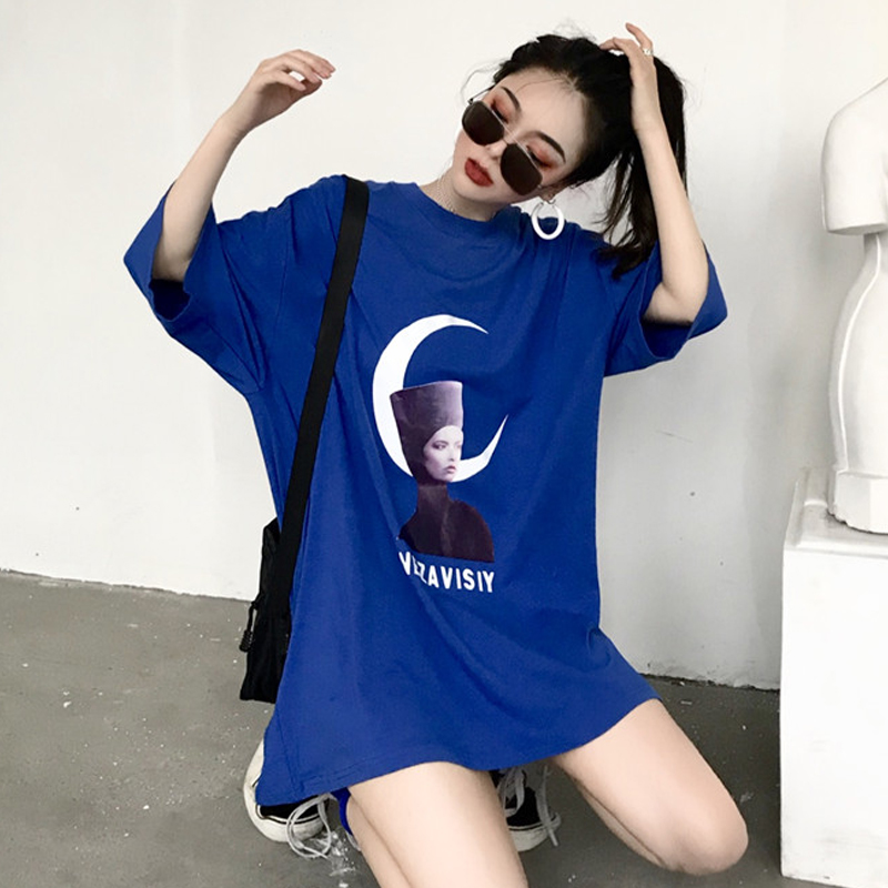 朋克风女装半袖运动风t恤短袖个性宽松青春少女风韩版女原宿街头