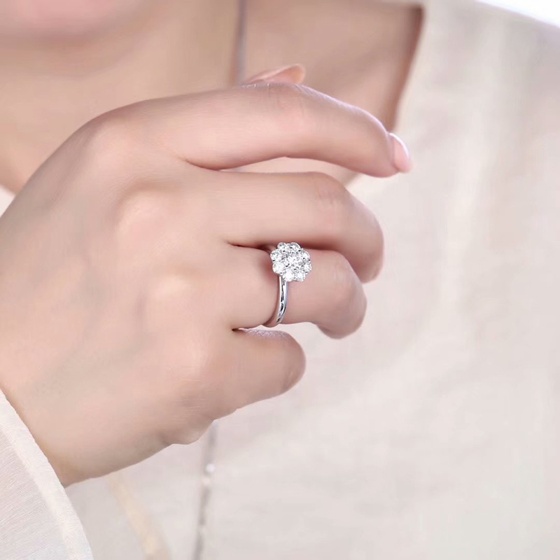 50 cent luxury womens ring vs f color genuine 1 carat womens proposal wedding diamond ring new GIA